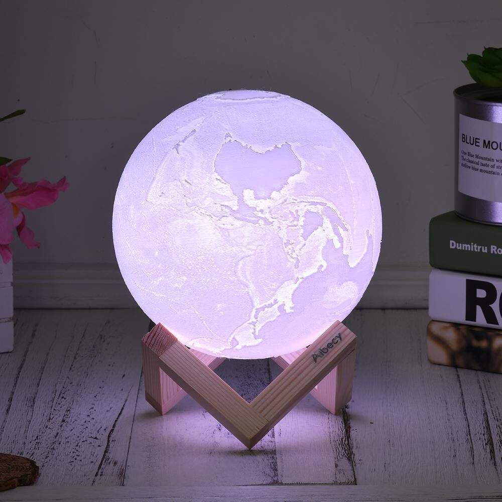 Table Lamps - 20cm/7.9in 3D Printed Earth Lamp LED Light 16 Colors RGB Adjustable Brightness Touch & - 20CM / 18CM / 15CM / 13CM / 10CM / 8CM