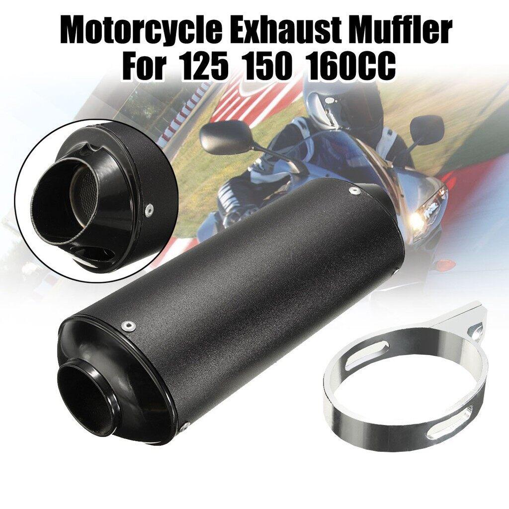 Moto Accessories - Escape Silenciador Exhaust Muffler Silencioso Moto Para 125 150160cc - GRAY / WHITE / BLACK