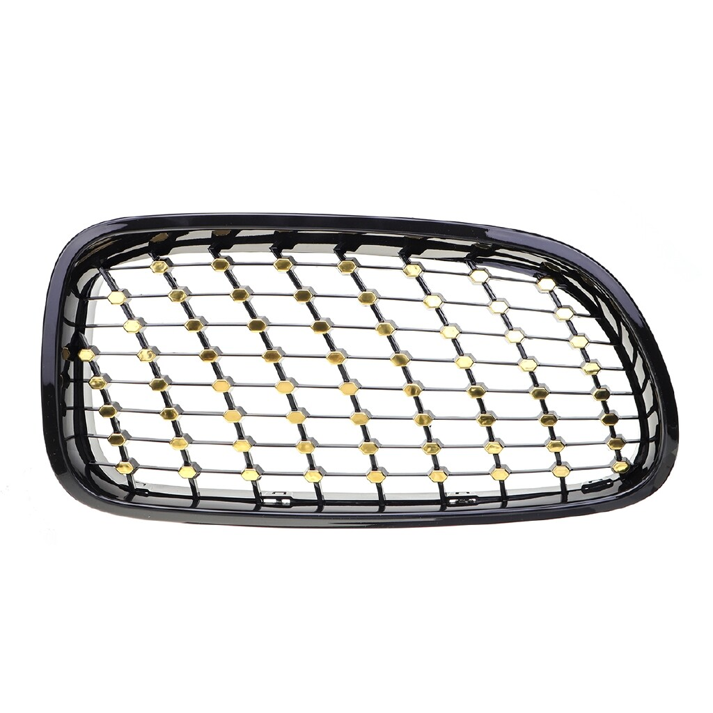 Automotive Tools & Equipment - 2X Front Kidney Grilles Grill For BMW F10 F11 F18 5-Series Black+Golden Stars - Car Replacement Parts