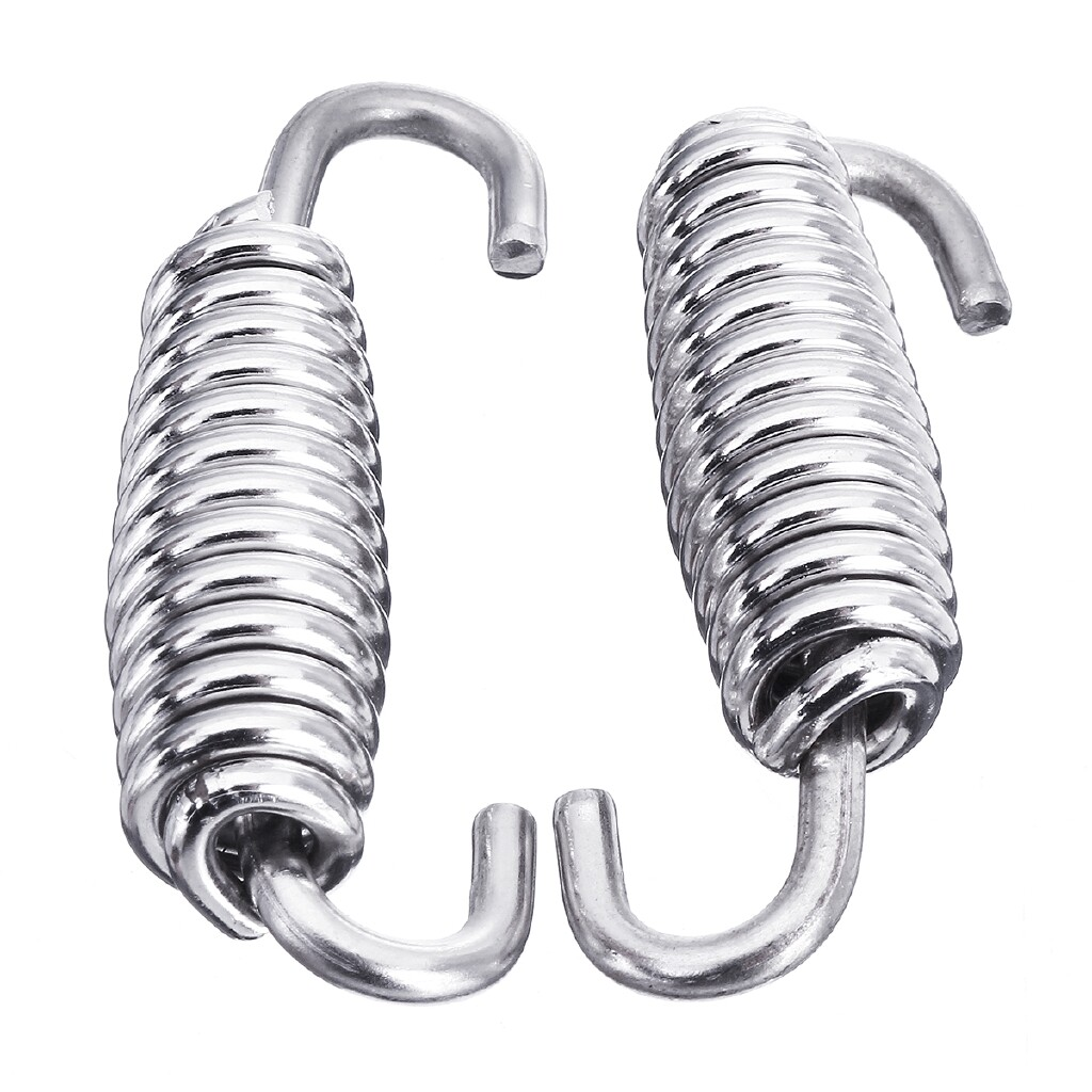 Moto Accessories - 2 PIECE(s) Stainless Steel Exhaust Springs 40mm Expansion Chambers Manifold Link Pipe - Motorcycles, Parts