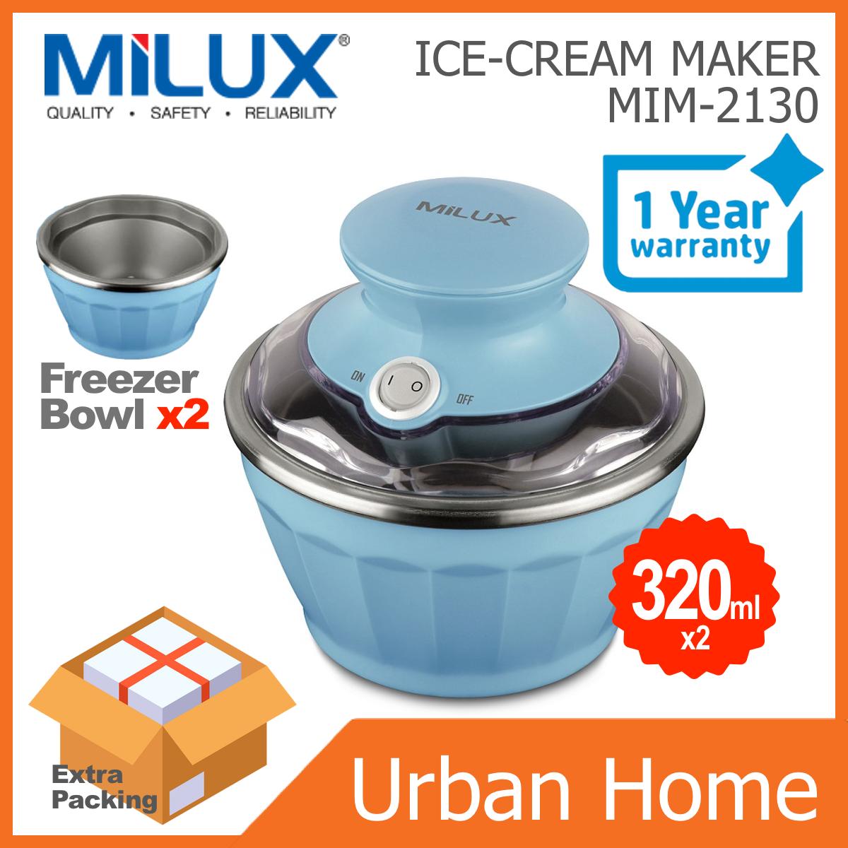 MILUX Delicate Ice Cream Maker Pembuat Ais Krim (MIM-2130/MIM2130)