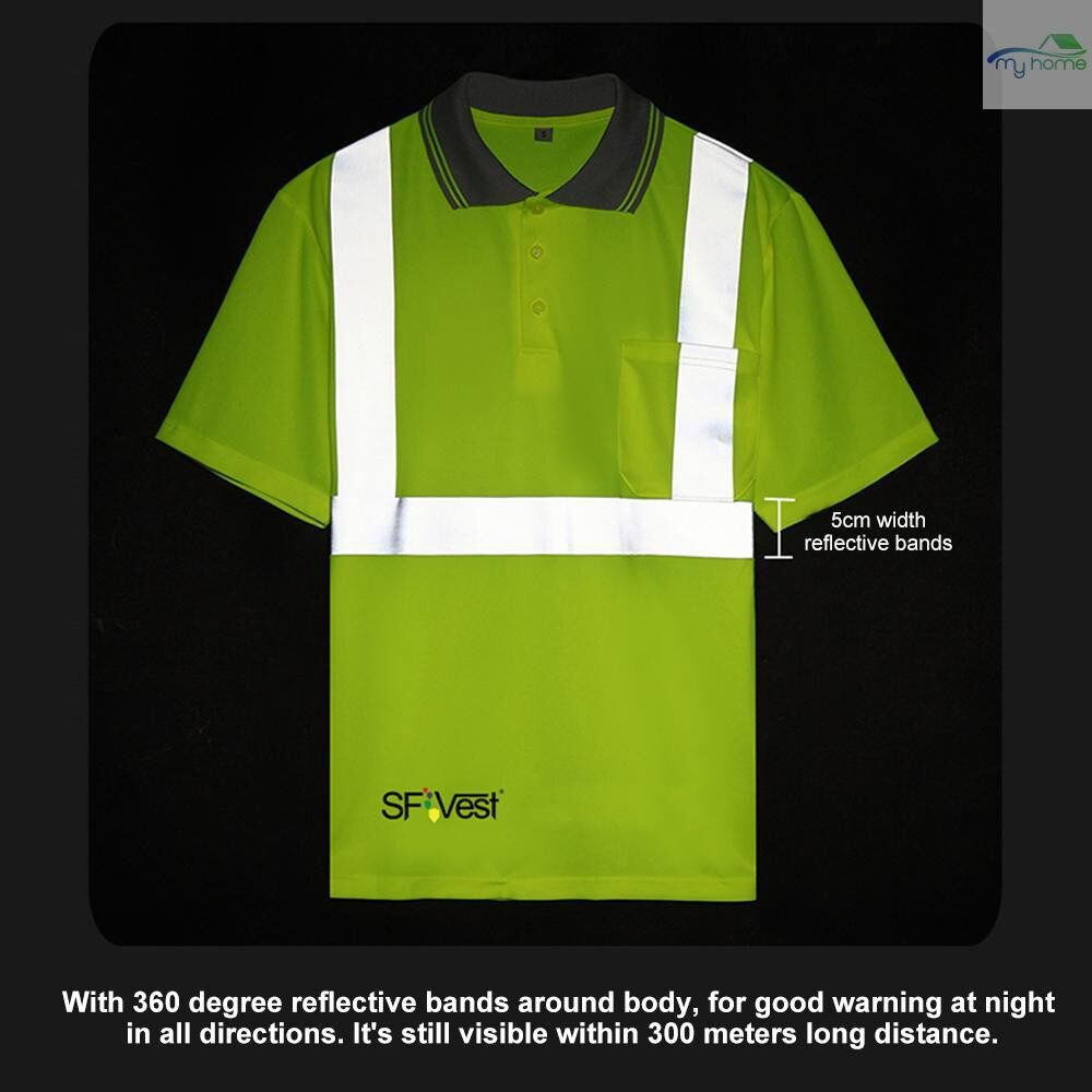 Protective Clothing & Equipment - SFVest 4006 Reflective T-shirt Work Safety Clothing Workwear Short Sleeve Reflective Safety Shirt - XL / L / M / S