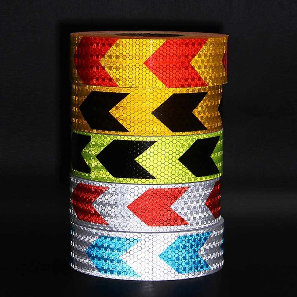People's Choice Arrow Safety Warning Conspicuity Reflective Tape Strip Sticker (Green & Black)