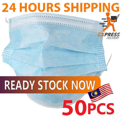 [READY STOCK] 3-Ply Face Mask Surgical Disposable Medical Grade 50PCS