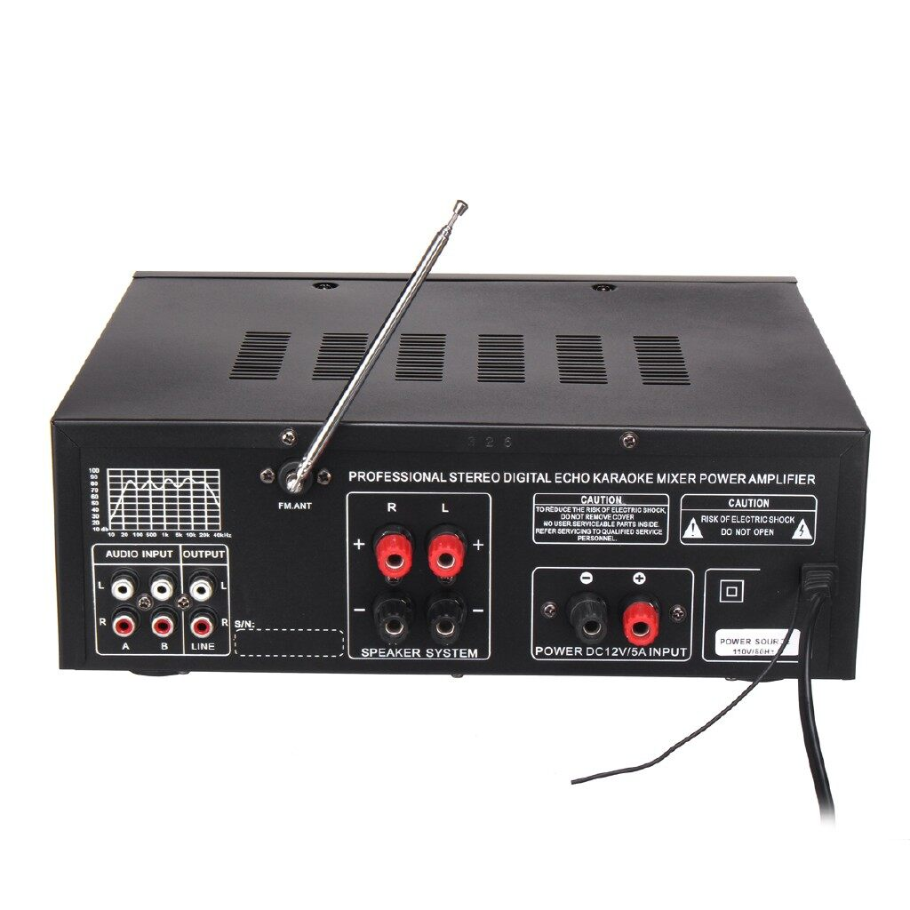 Mobile Cable & Chargers - 800W 2Channel Equalizer BLUETOOTH Home Stereo Power Amplifier USB SD Remote