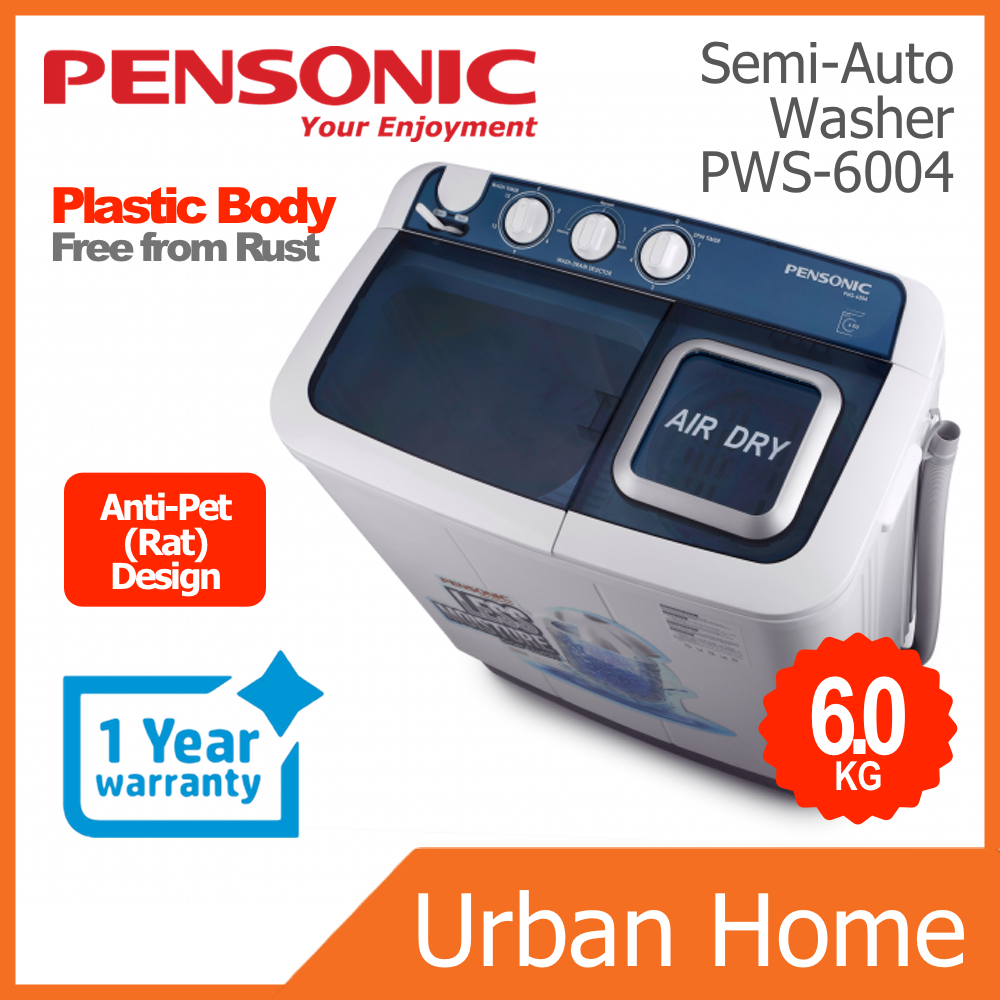 PENSONIC 6KG Semi Auto Washing Machine Washer Mesin Basuh (PWS-6004/PWS6004)