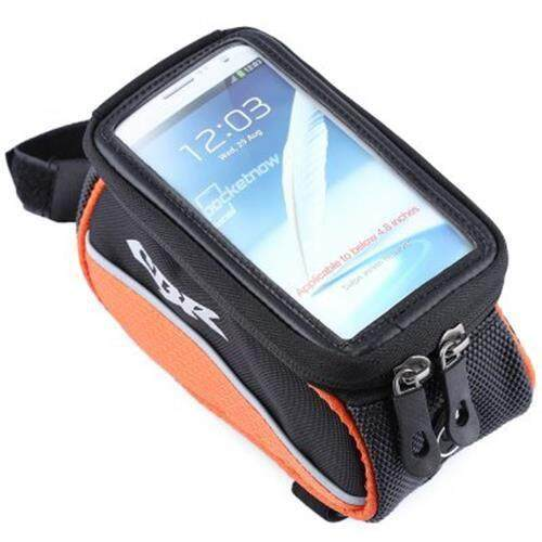 CBR 008 EVA OUTDOOR PORTABLE FRONT BEAM BAG POUCH FOR BIKE BICYCLE CYCLING (ORANGE)