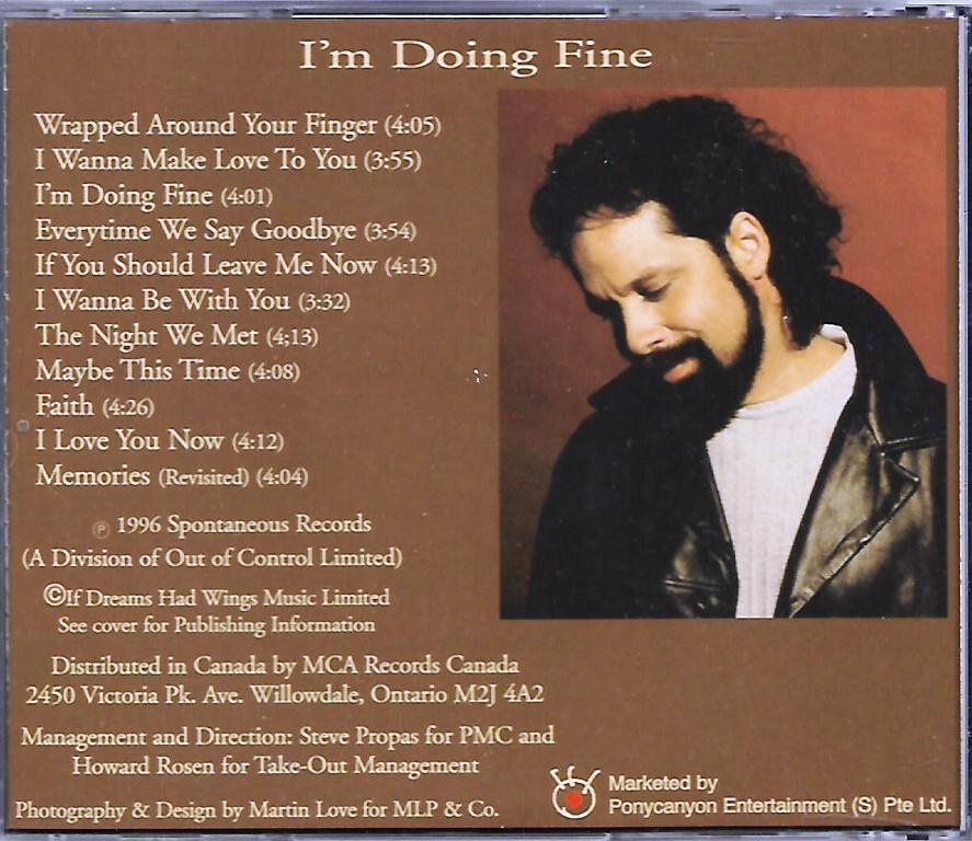 Dan Hill 1996 Album - I'm Doing Fine CD