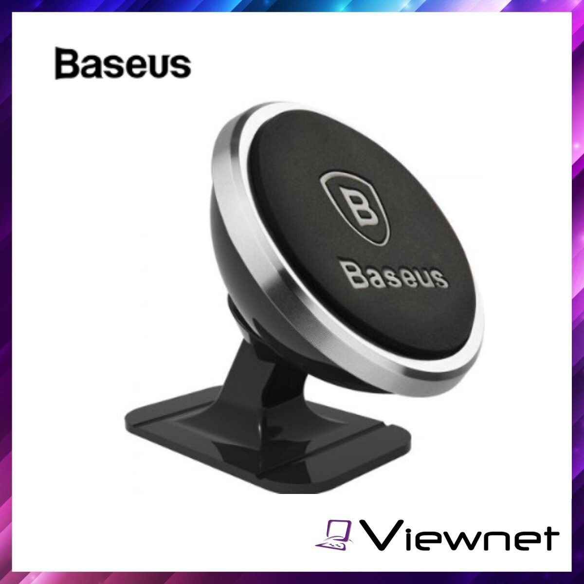 Baseus Sugent 360-degree Rotation Magnetic Mount Holder, Paste type, Strong Paste, Multi-angle, Wide Compatible, Rose Gold / Silver / Luxury Gold