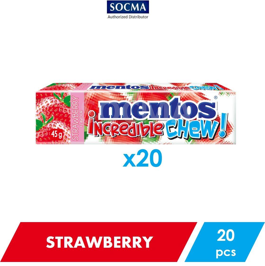 Mentos Incredible Chew Strawberry 45g [20]