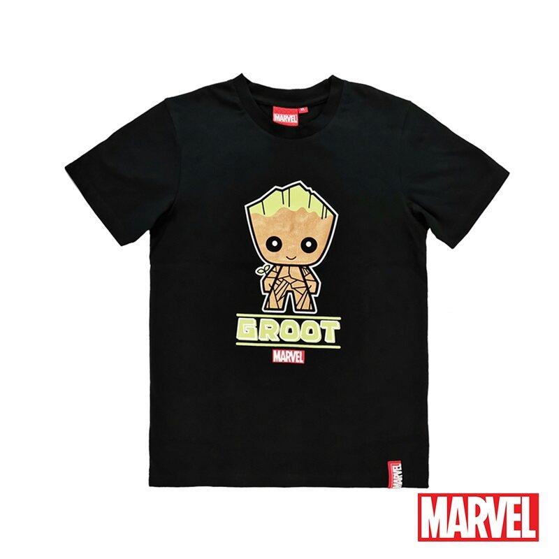 Marvel Genuine Kids Glow in the Dark Avengers Short Sleeve T Shirt Black VIM20723K