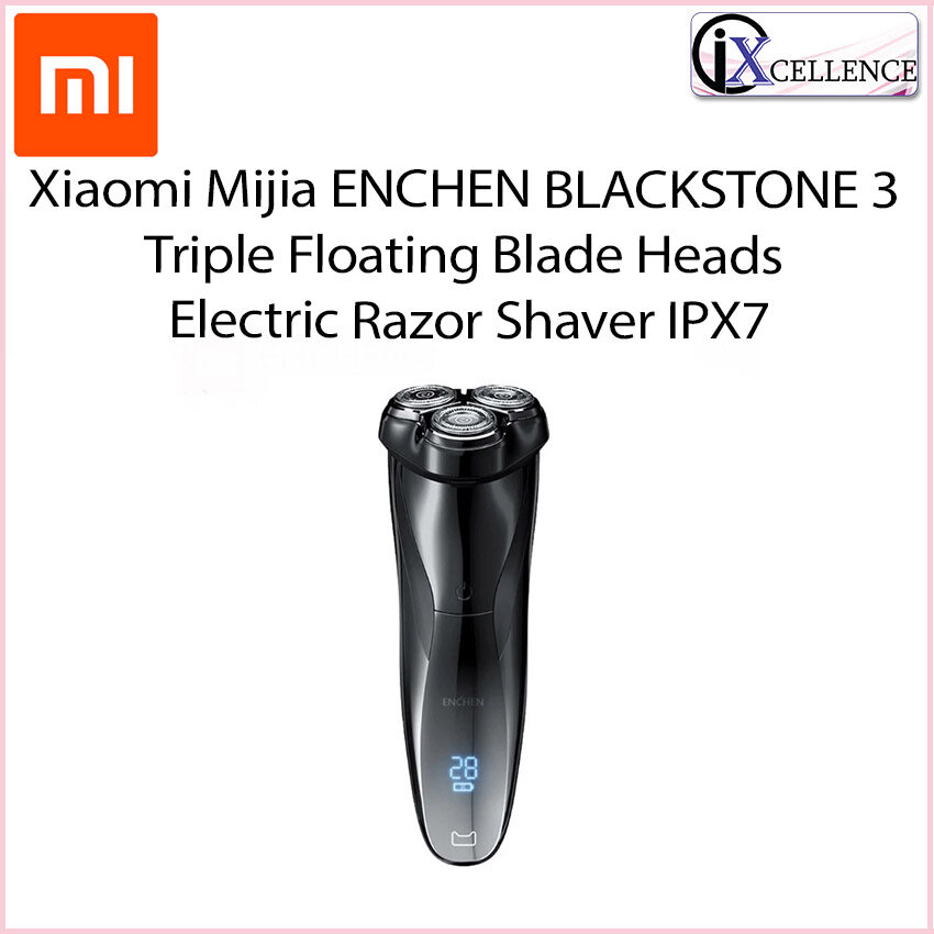 [IX] Xiaomi Mijia ENCHEN BLACKSTONE 3 Triple Floating Blade Heads Electric Razor Shaver IPX7