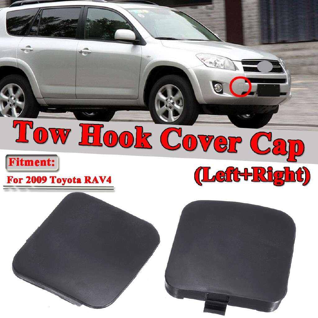 Automotive Tools & Equipment - Pair Front Bumper Tow Hook Cover Cap for 2009 Toyota RAV4 Right + Left - Car Replacement Parts