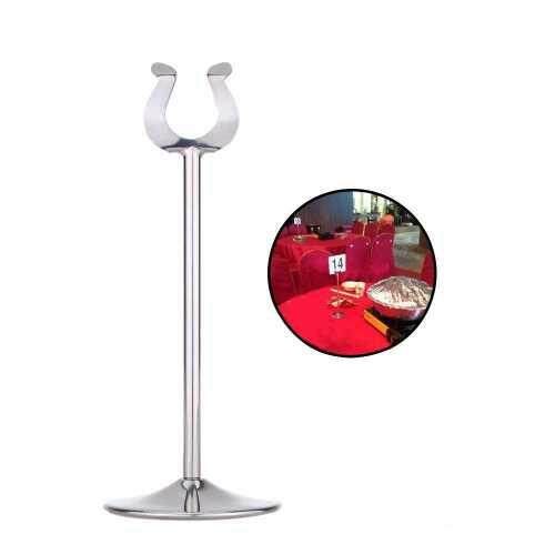 8 Inches Stainless Steel U Shaped Table Number Place Card Holder Menu Stand for Wedding Restaurant (beige)