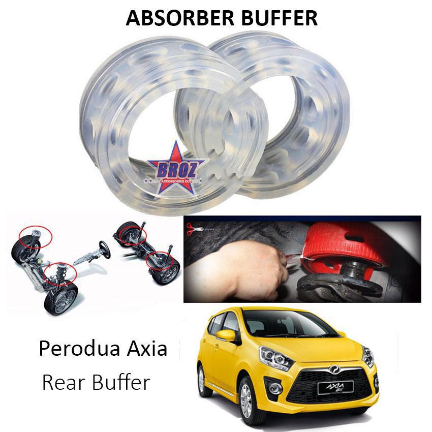 Broz OEM Rear C-Type Car Shock Absorber Buffer /Spring Bumper/ Power Cushion Buffer (Transparent) for Axia