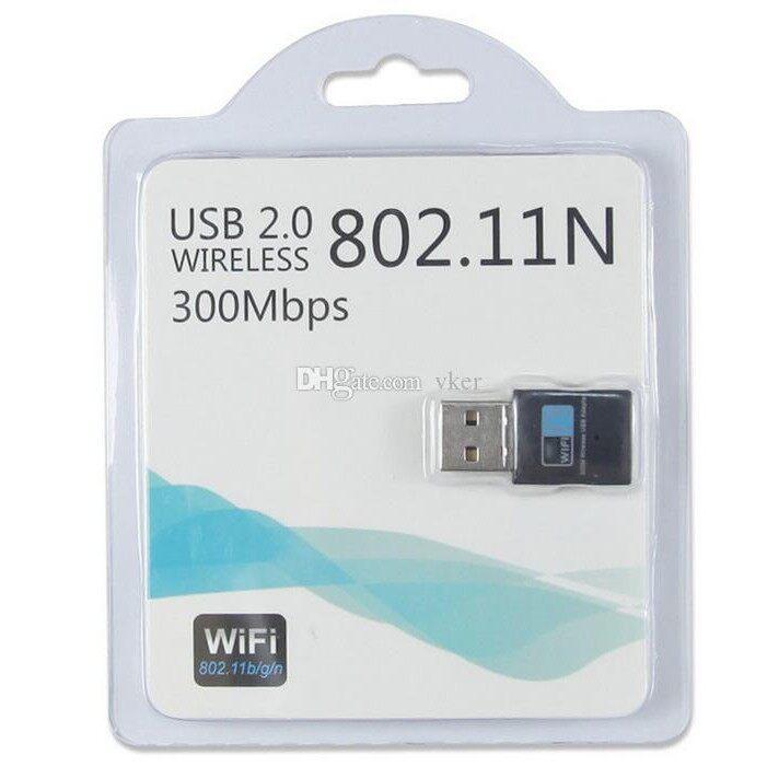 300mbps USB Wifi PC Laptop Wireless Adapter - Blue