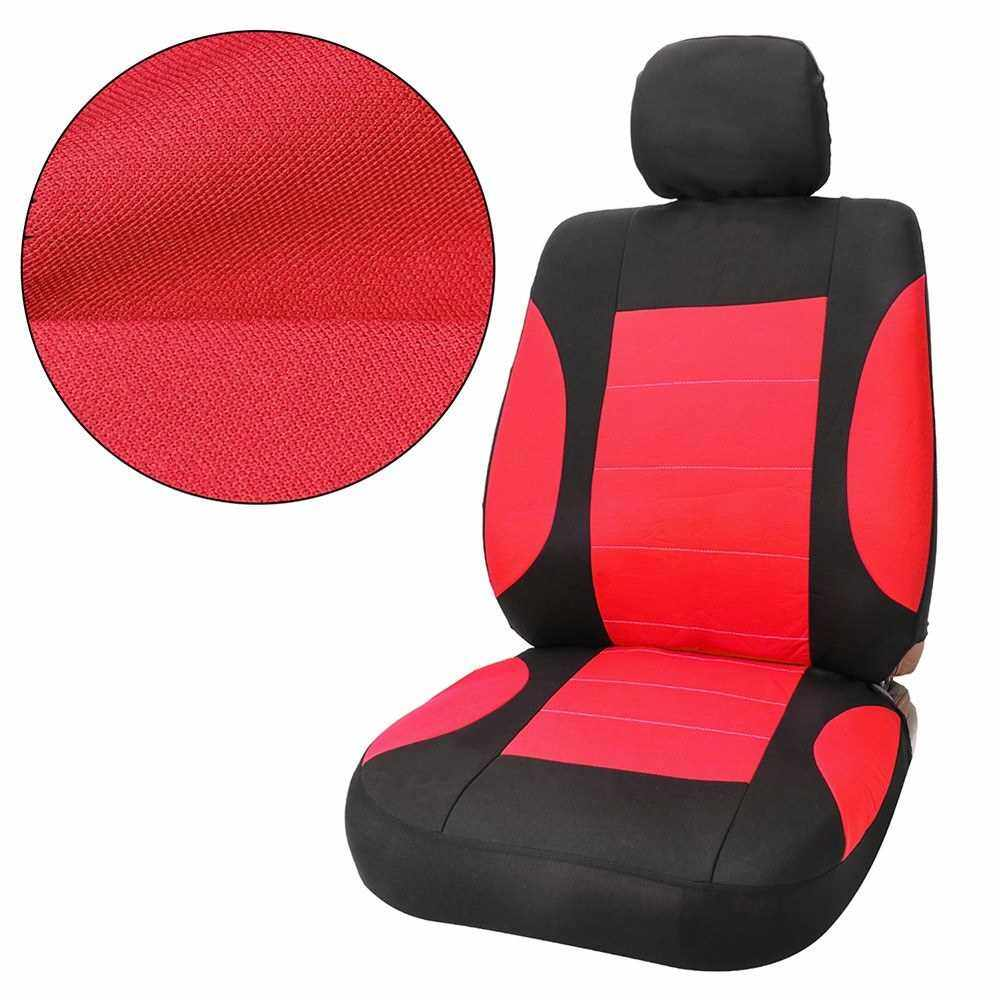 Best Selling TIROL Car Seat Covers Universal 11PCS Full Set Automobile Seat Covers Car Protective Interior Accessories Fit with Most Vehicles,Red (Red)