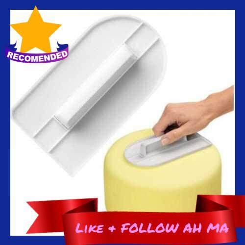 Best Selling 1PCS Fondant Cake Screeding Unit Plastic Cream Decorating Smoother Polisher Cakes Cream Scraper DIY Baking Tools with Handle