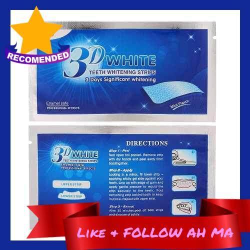 Best Selling 1Pc 3D Teeth Whitening Strips Teeth Dental Whitening Cleaning Double Elastic Gel Strips Dental Whitening Tools (Transparent)
