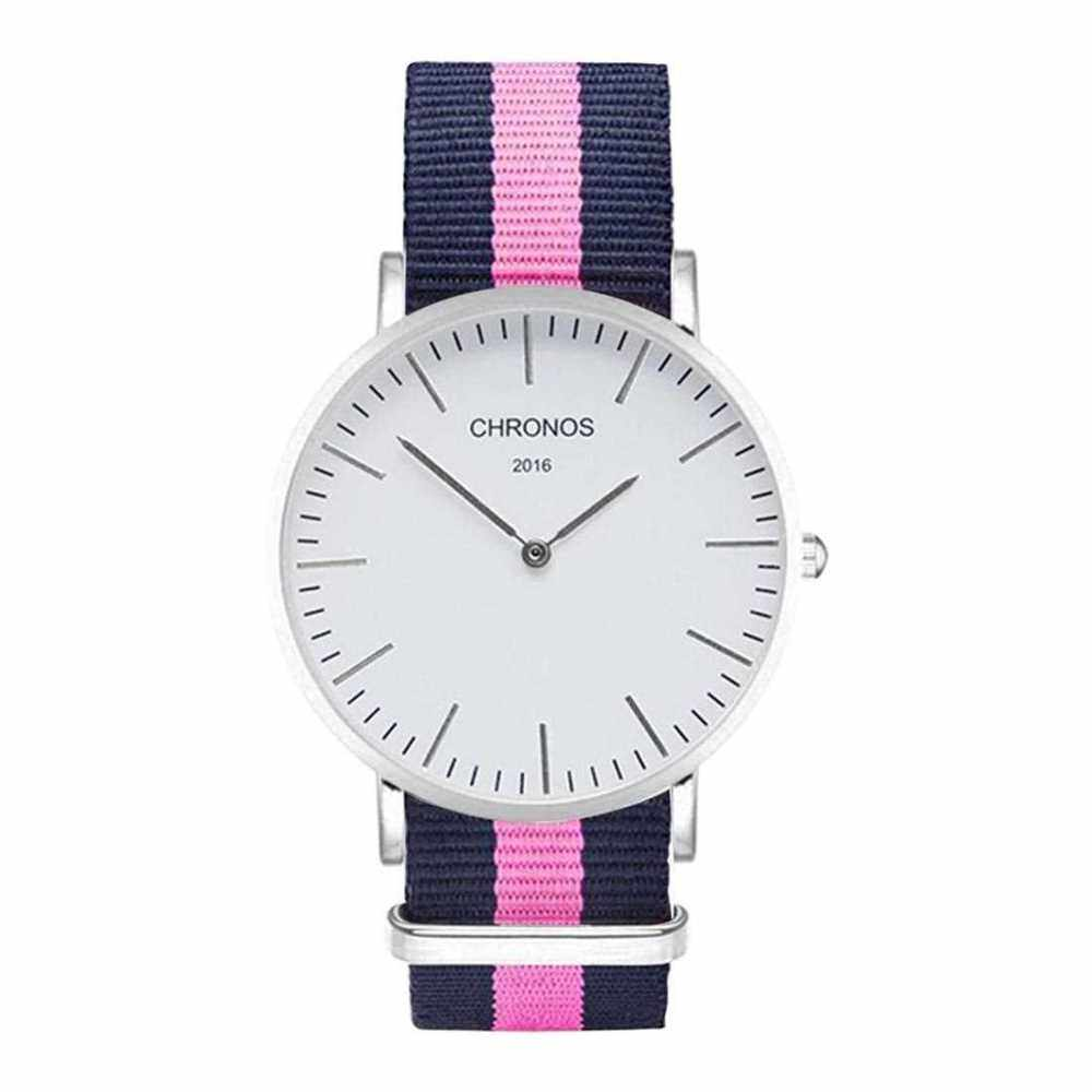 CHRONOS Fashion Quartz Movement Shock-proof Anti-magnetic Unisex Watch (Blue+Pink)