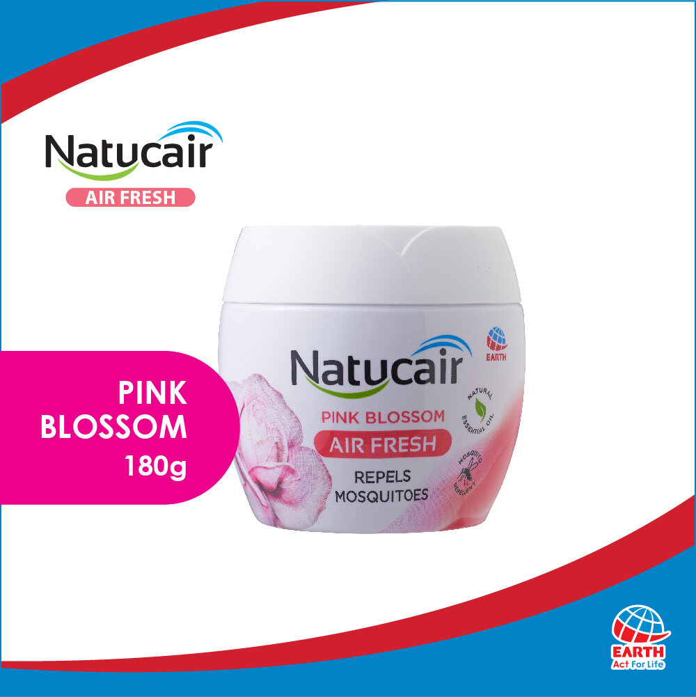 Natucair Air Fresh Mosquito Repellent Gel Pink Blossom (180g)8850273183014