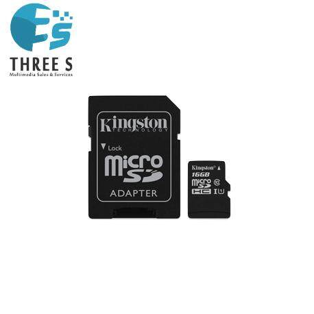 Kingston Micro SDHC Memory Card Class 10 16GB (Black)