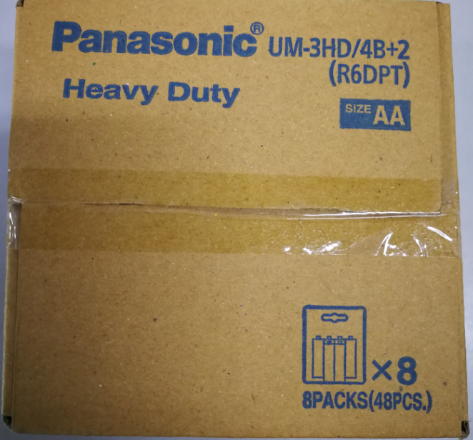 Panasonic Heavy Duty 1.5V AA Size Battery Anti-Leak Protection 4pcs or 4+2pcs Pack