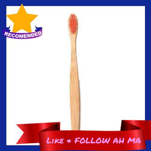 Best Selling Natural Bamboo Toothbrush Soft Bristles Biodegradable Eco-Friendly Toothbrush for Men and Women (Red)