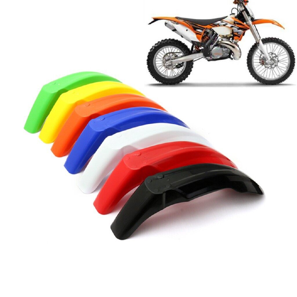 Moto Accessories - Front Fender Mudguard Dirt Bike For KTM EXC XC KLX KX RM DR XT YZ WR 7 Colors - ORANGE / BLACK / BLUE / GREEN / RED / YELLOW / WHITE