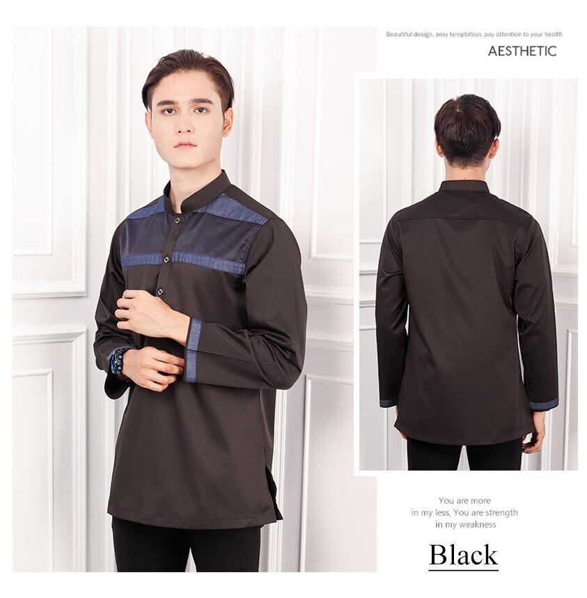 2020 BAJU Raya   Men Afiq Executive Button Kurta Stylish Fashion K855006R