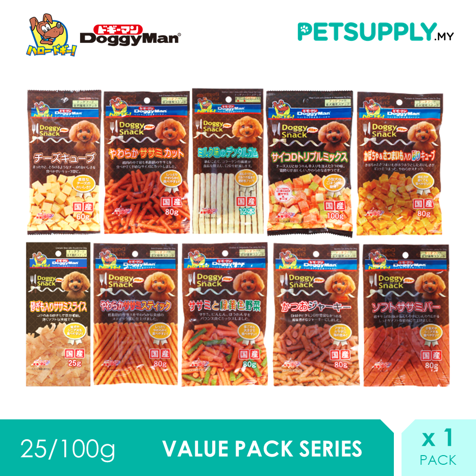 DoggyMan Value Pack Series Dog Snack Treat (25G - 100G) x 1 Pack [PETSUPPLY.MY]