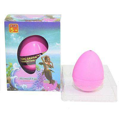 Growing unicorn mermaid Water Growing Hatching Colorful Egg (ROSE RED) toys for girls