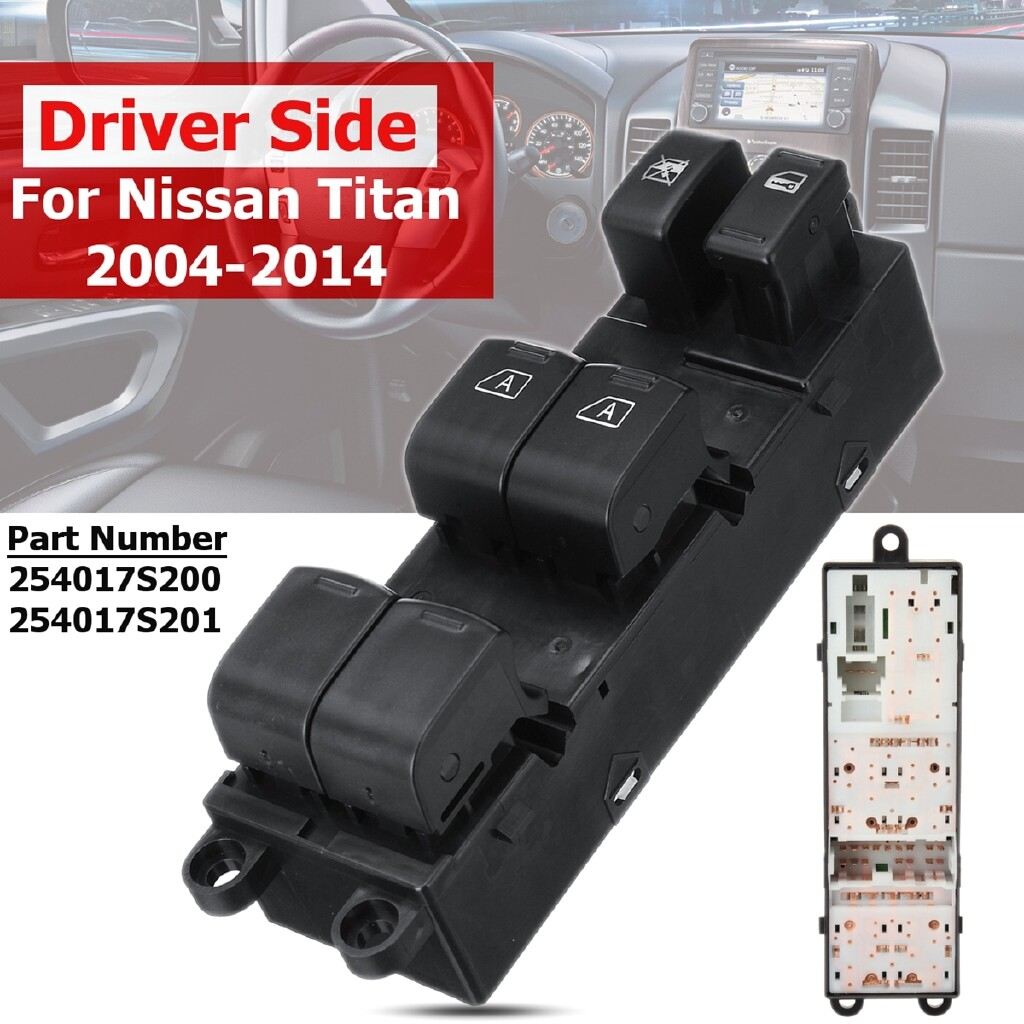 Windscreen Wipers & Windows - For Nissan Titan 2004-2012 Master Electric Power Window Switch Driver Front Left - Car Replacement Parts