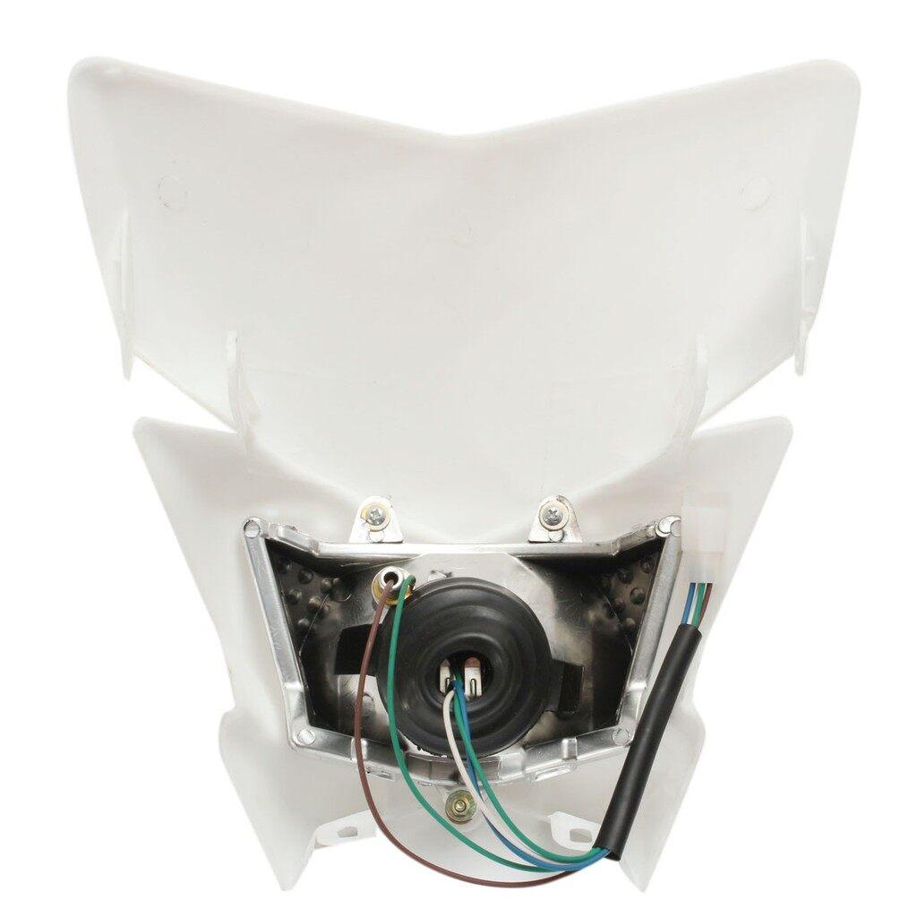 Moto Accessories - Motorcycle Fairing Amber Headlight Light ATV Dirt Bike Modified Hi/Low Dual Lamp - Motorcycles, Parts