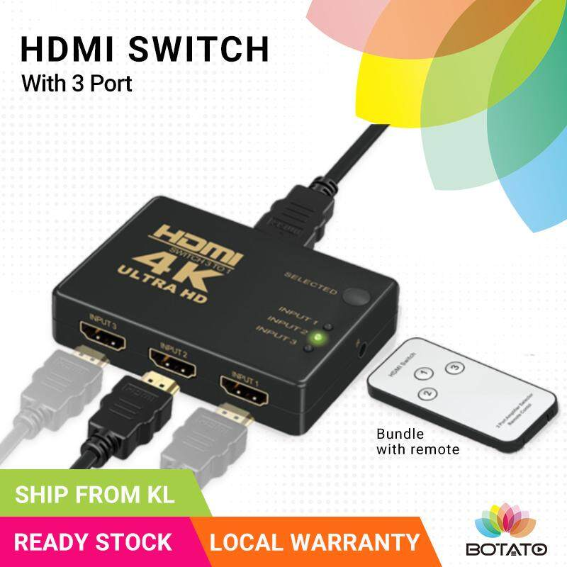 [[HDMI Switch 3 Port]] HDMI Port Extension 3 in 1 out Switch Switcher HDMI Switcher [[Botato Electronic]]
