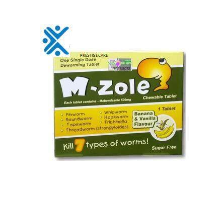 Winwa M-Zole (mebendazole 100mg) 1 tablet - Deworm/Ubat cacing