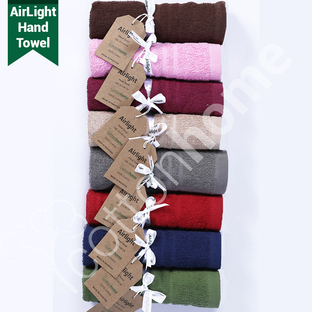 READY STOCK! Air Towel-Hand Towel: Made of 100% Natural Combed Cotton - ROLL PACK - GREAT FOR GIFTS, present, birthday, festival. corporate gift