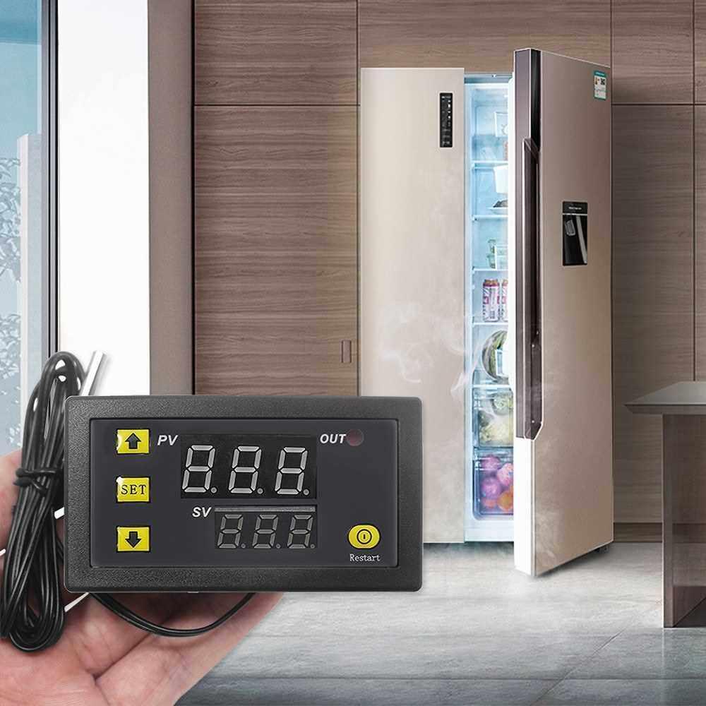 Best Selling W3230 Mini Digital Temperature Controller LED Display Thermostat Regulator DC 24V 20A Temperature Control Switch Sensor Meter (Black)