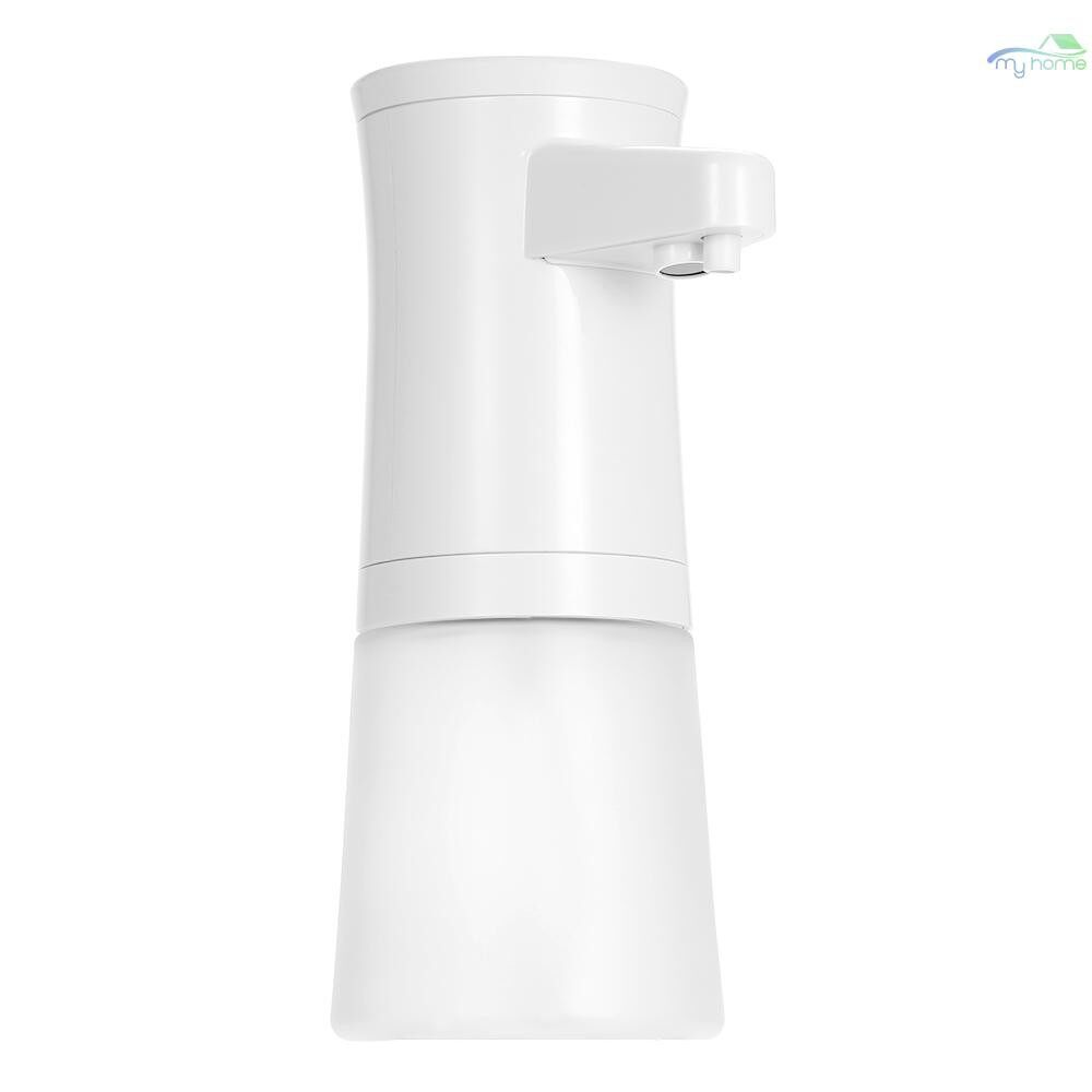 DIY Tools - 350ML Automatic Foaming Soap Dispenser Infrared Motion Sensor Hands Free Touchless Liquid Shampoo - WHITE&TRANSPARENT