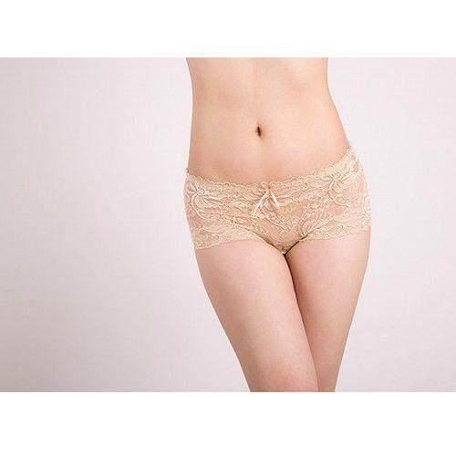 NUDE / SKIN LACE COTTON SEAMLESS PANTIES YBP001ND (SIZE L)