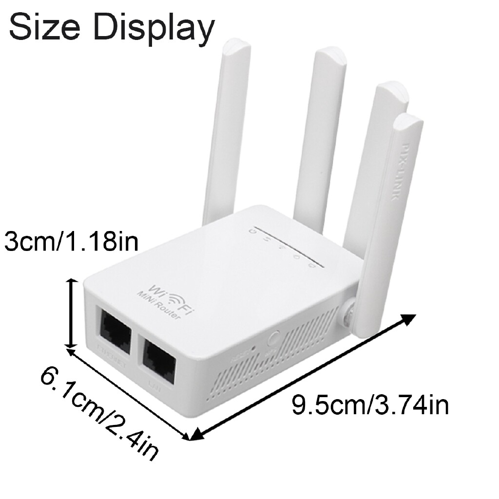 Modems & Routers - 2.4 G WIRELESS Router Range Extender With Antenna WPS Wifi Repeater - AU