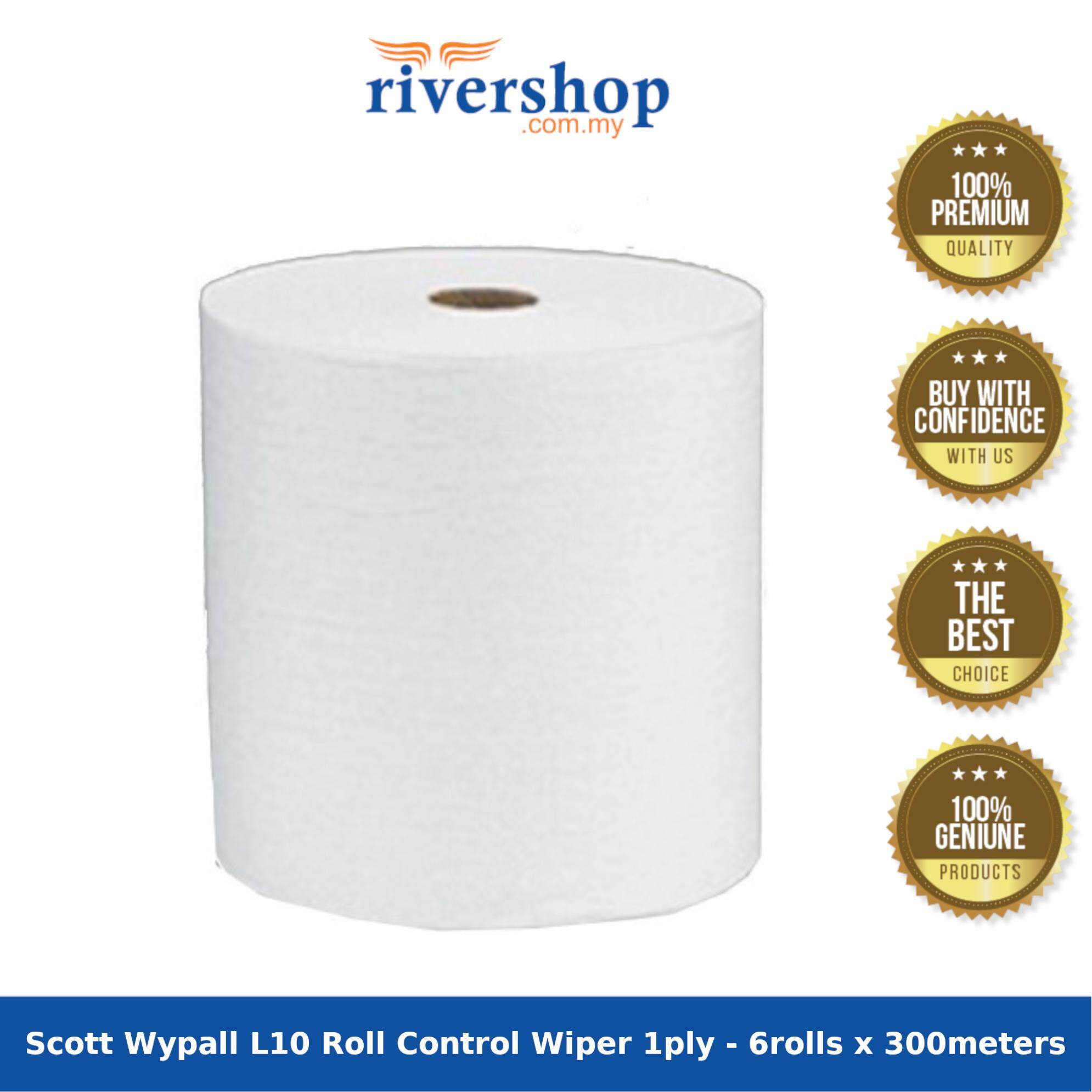 Scott Wypall L10 Roll Control Wiper 1ply - 6rolls x 300meters