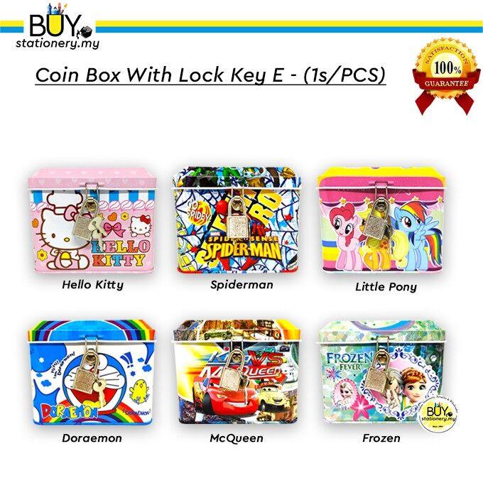 Coin Box With Lock Key E - (1s/PCS)