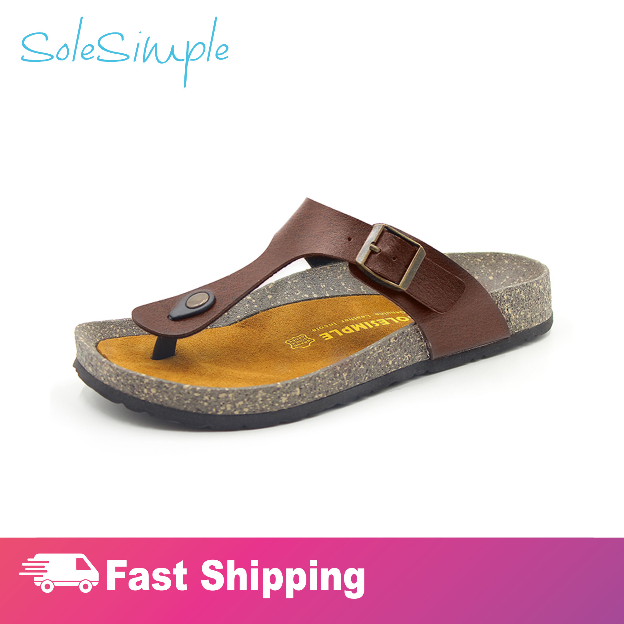 SoleSimple Rome - Leather Red / Sandal