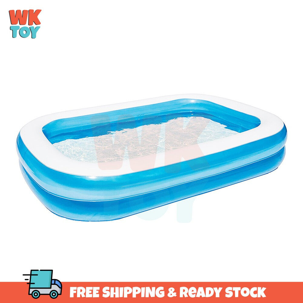 WKTOY Bestway 54006 262x175x51cm Extra Large Inflatable 2 Layers Family Swimming Pool