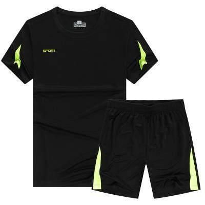 (Pre Order 14 days) JYS Fashion Korean Style Women Sport Wear Set Collection 540 - 8584 Black Mix Green