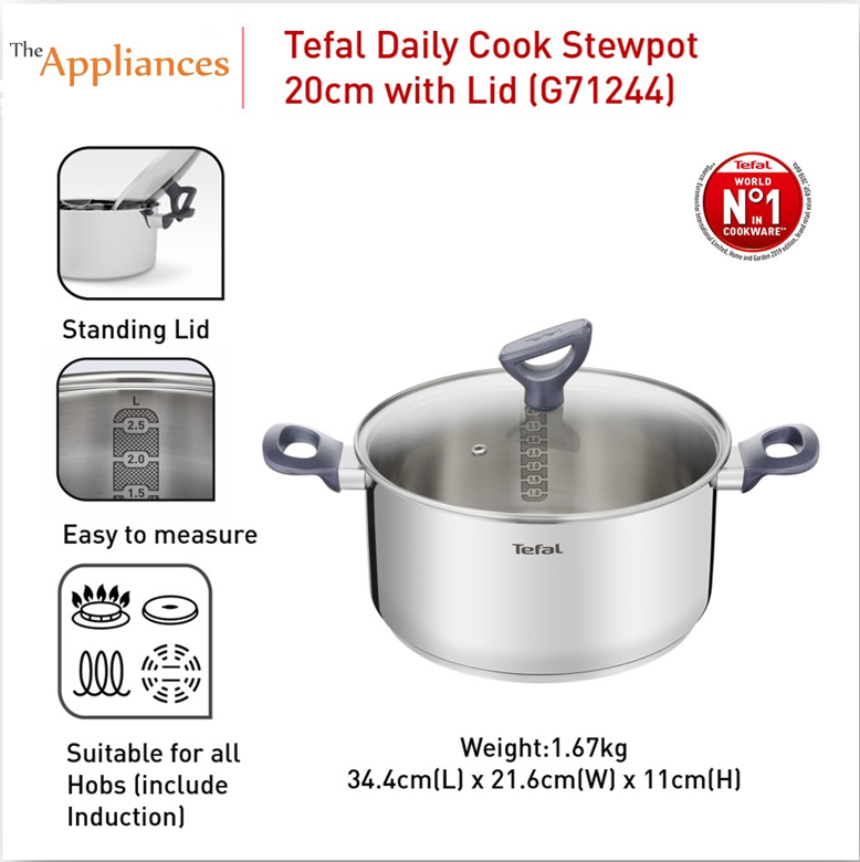Tefal Daily Cook Stewpot with Lid 20cm