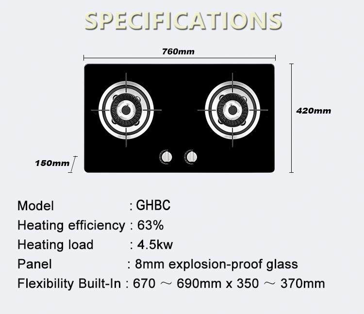 Hob Long-short Sprial Kitchen Gas Hob Gas Stove Gas Cooker GHBC