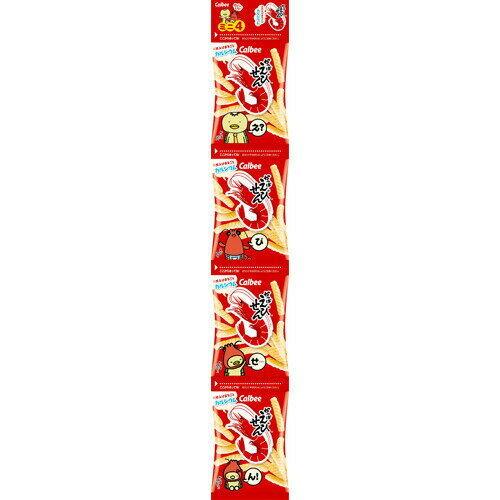 CALBEE Shrimp Cracker Mini strip 4packs日本零食虾条饼干( 4小包) (6508)   New PGMall