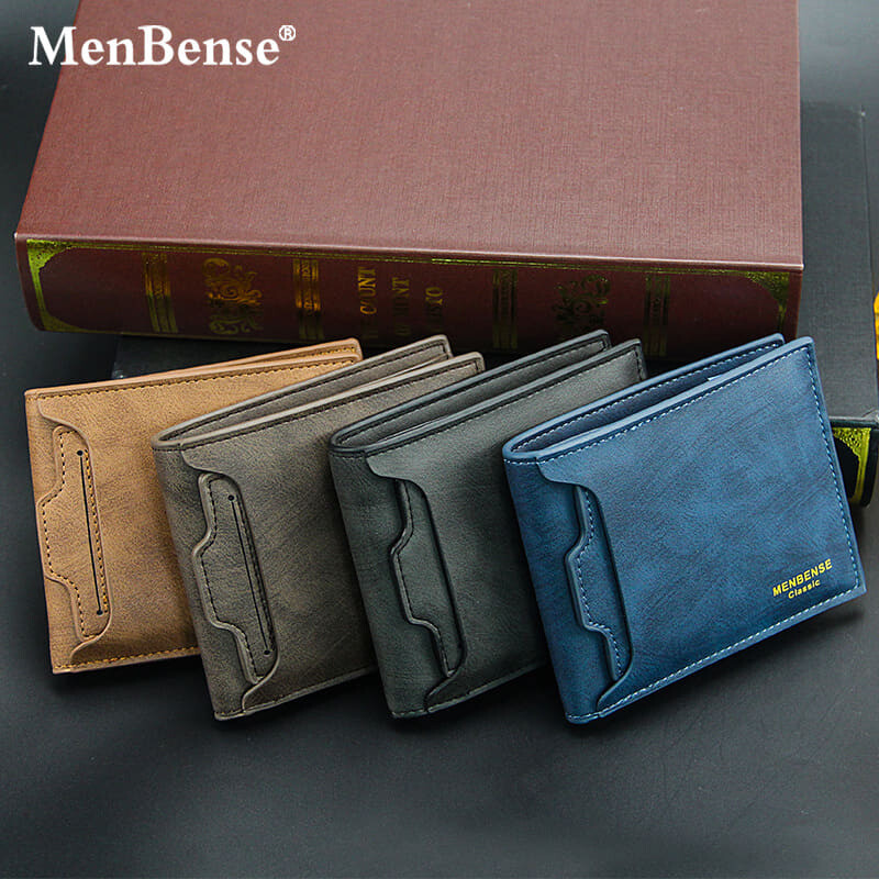 [M'sia Warehouse Direct] 2020 Korean Series Men's Leather Fashion Wallet Bi-Fold Fengshui Wallet Perfect Gift For Love One (Can request Box) Clutch Card Coins Cash Slot With Zip Portable Hand Carry Bag Top Material Dompet Lelaki Kulit Halal